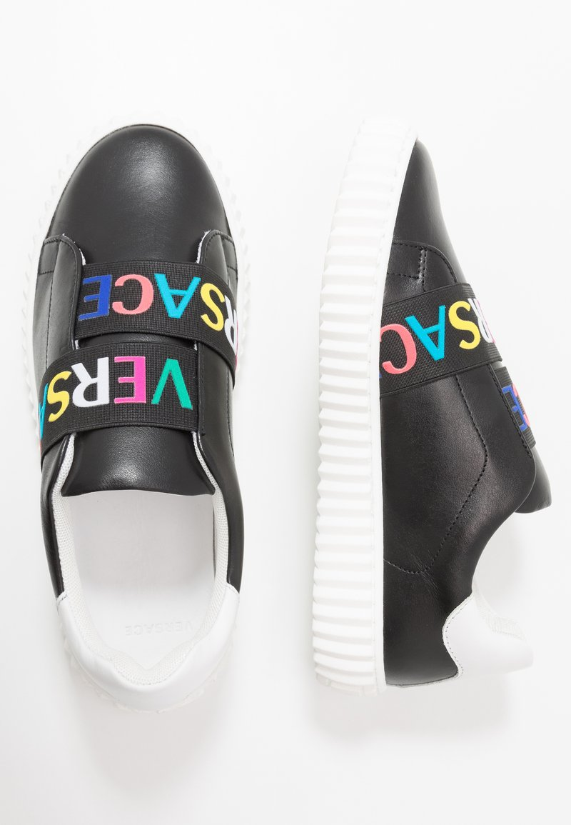 Versace - Nazouvací boty - nero/bianco