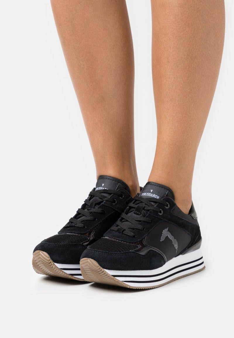 Trussardi - CELTIK MIX - Sneakersy niskie - gunmetal