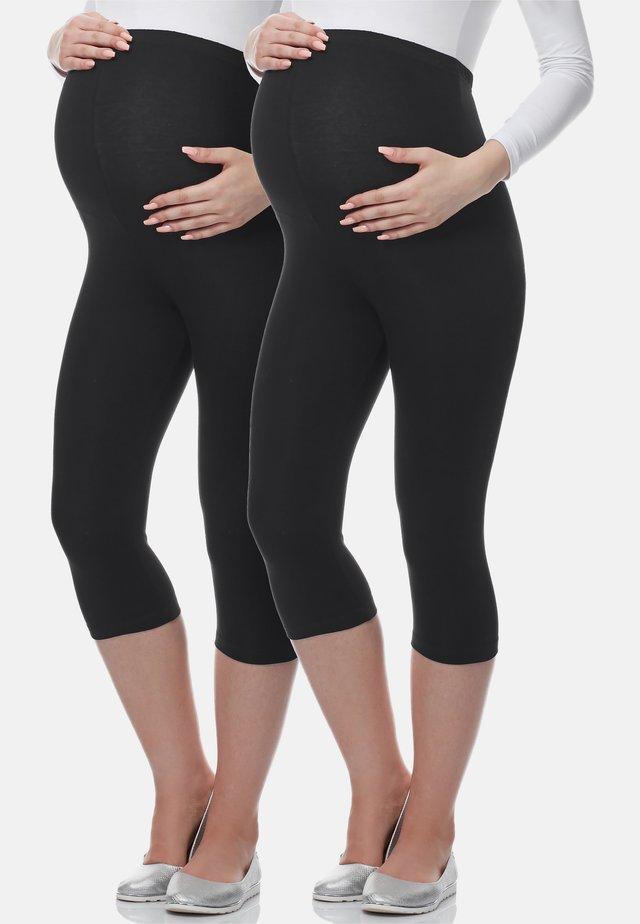 2 PACK - Leggings - Trousers - schwarz/schwarz