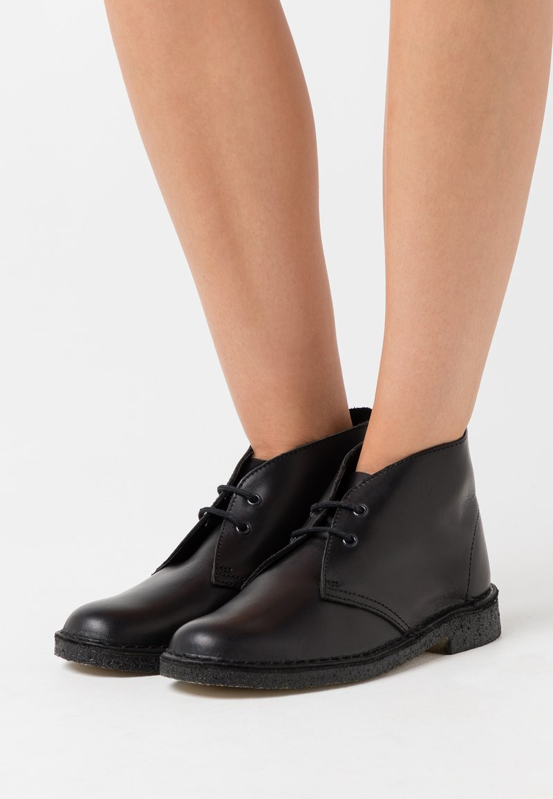 Clarks Originals - DESERT BOOT - Ankle boots - black polished