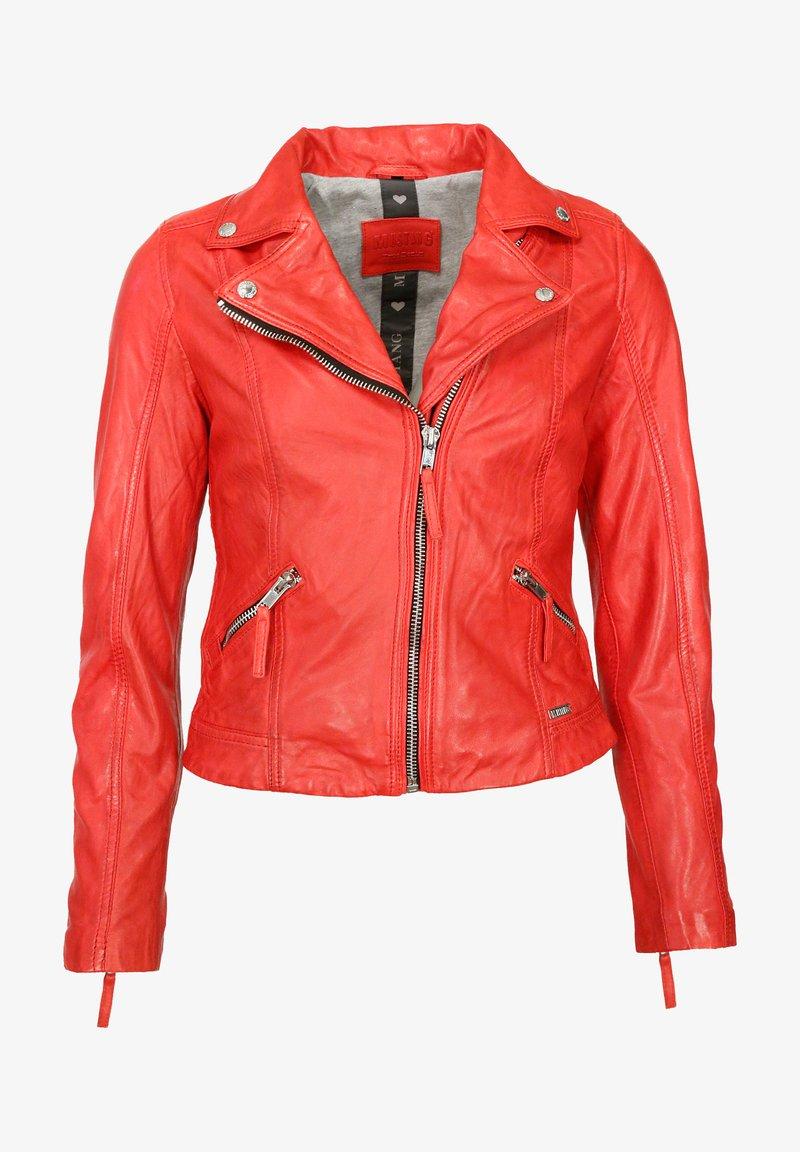 Mustang - Leren jas - flame red