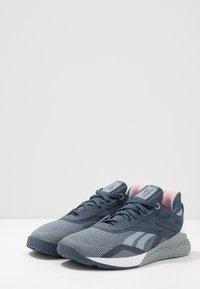 Reebok - NANO X - Trainings-/Fitnessschuh - metallic grey/indigo/white - 2