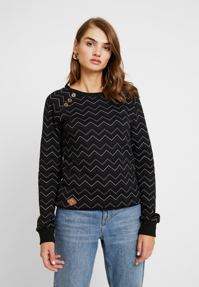 Ragwear - DARIA ZIG ZAG - Sweatshirt - black