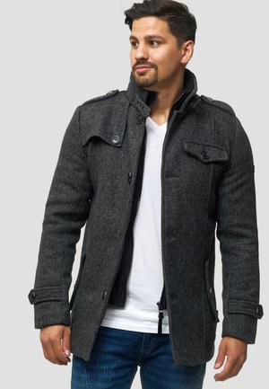 BRANDAN - Short coat - black mix