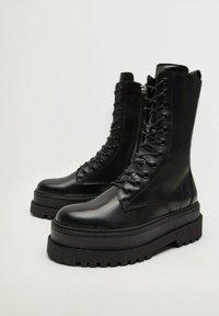 Mango - MONET - Lace-up ankle boots - schwarz - 3