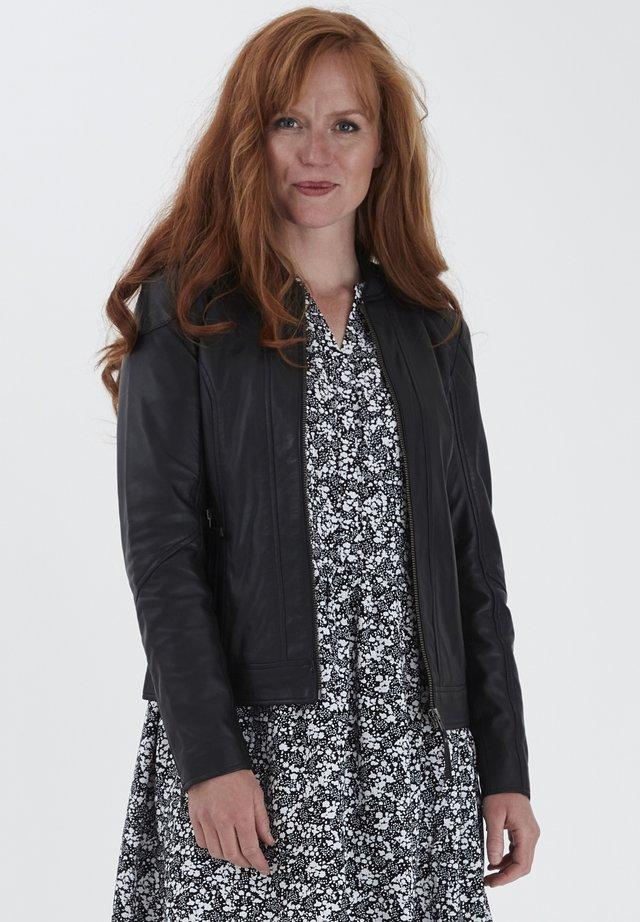 FRLA LUXE - Veste en cuir - black