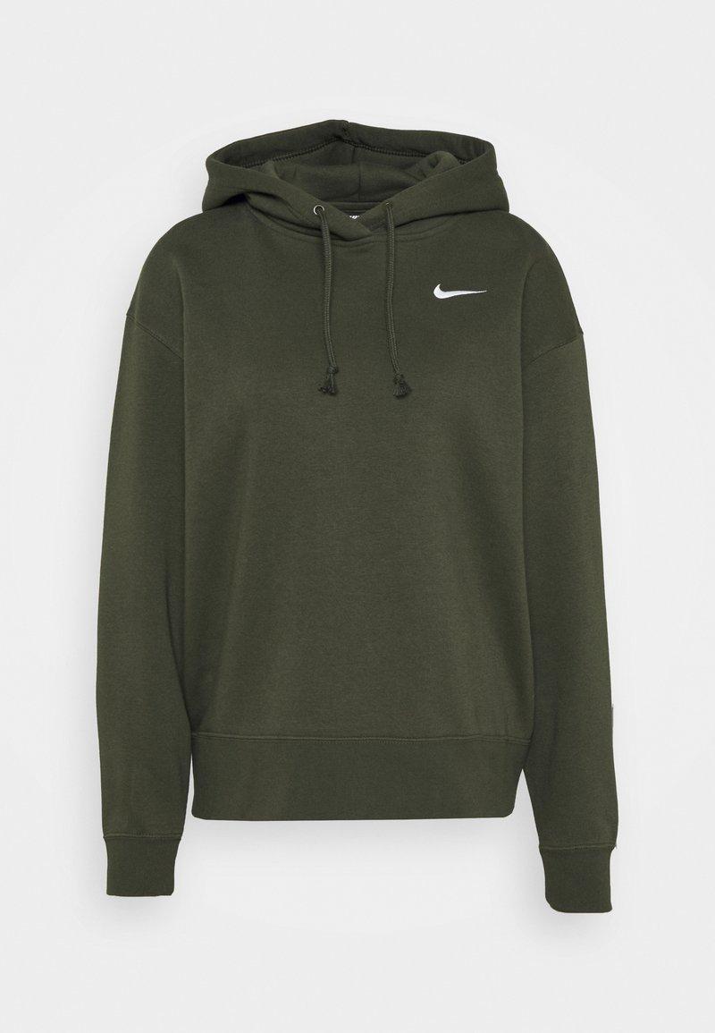 Nike Sportswear - HOODIE TREND - Sweat à capuche - cargo khaki/white
