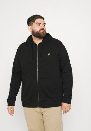 PLUS ZIP THROUGH HOODIE - Zip-up sweatshirt - jet black