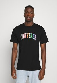 Converse - GLITTER PRIDE TEE - T-shirt con stampa - black - 0