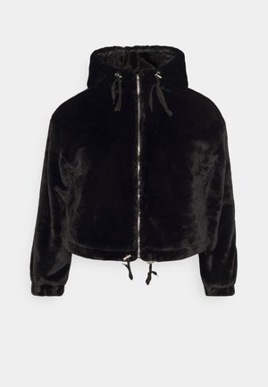 HOODED JACKET - Zimní bunda - black