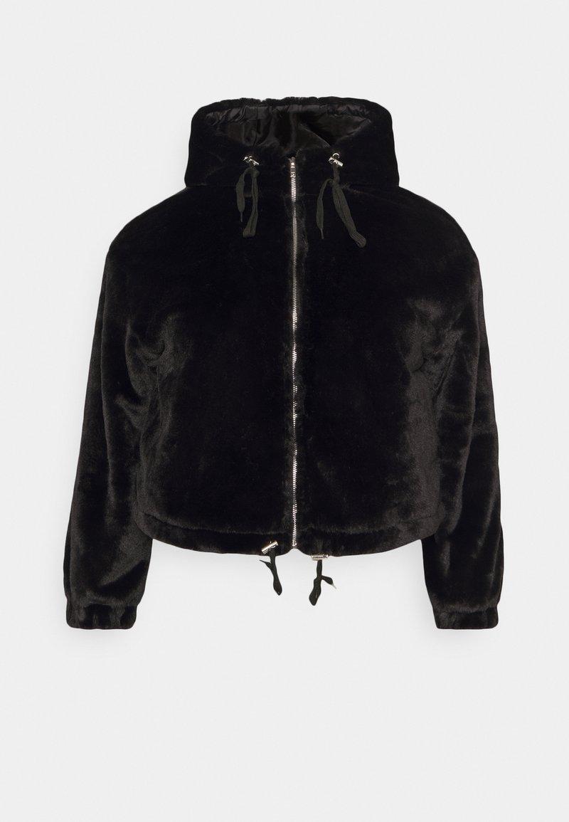Missguided Plus - HOODED JACKET - Winter jacket - black