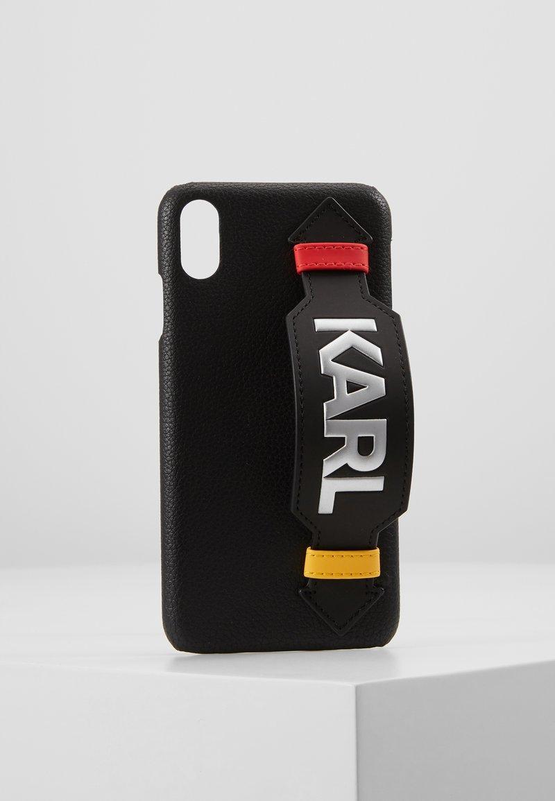 KARL LAGERFELD - CASE WITH STRAP MAX - Étui à portable - black