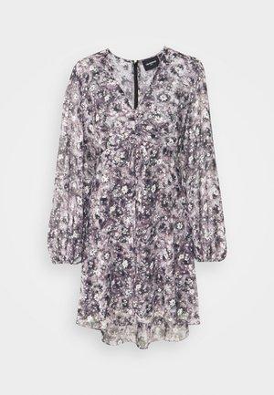 DRESS - Korte jurk - black/ecru