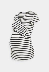 Envie de Fraise - FIONA - T-shirt z nadrukiem - off white/navy blue stripes - 0