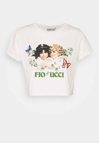 Fiorucci - WOODLAND VINTAGE ANGELS BOXY TEE - T-shirt con stampa - birch - 0