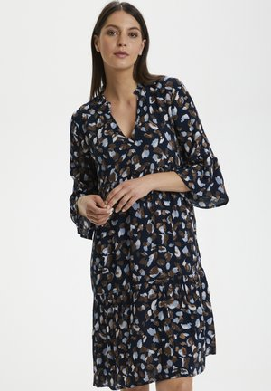 KABERNA AMBER - Day dress - blue brown graphical paint