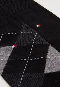 Tommy Hilfiger - MEN SOCK CHECK 2 PACK - Chaussettes - black - 1