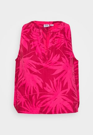 ZEN TOP - Blouse - pink palms