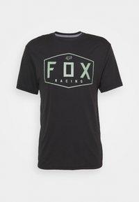 Fox Racing - CREST TECH TEE - Print T-shirt - black/green - 4