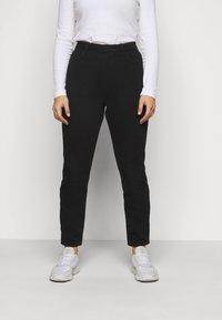 Missguided Plus - WRATH HIGH WAISTED - Jeans straight leg - black - 0