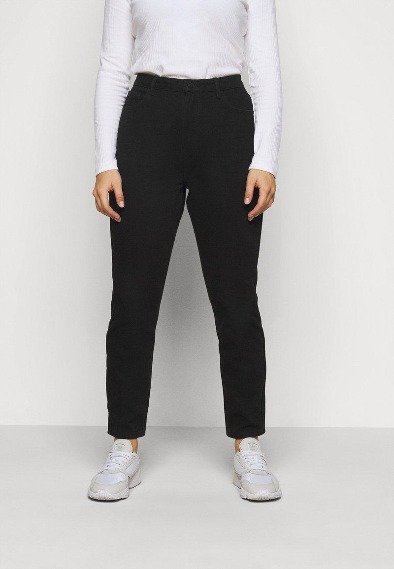 Missguided Plus - WRATH HIGH WAISTED - Jeans straight leg - black