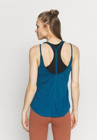 Nike Performance - YOGA STRAPPY TANK - Topper - valerian blue/industrial blue - 2