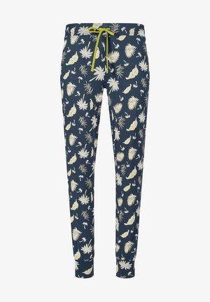 Pyjama bottoms - midnight palm leaves
