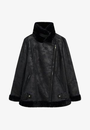 MOTOR7 - Faux leather jacket - schwarz