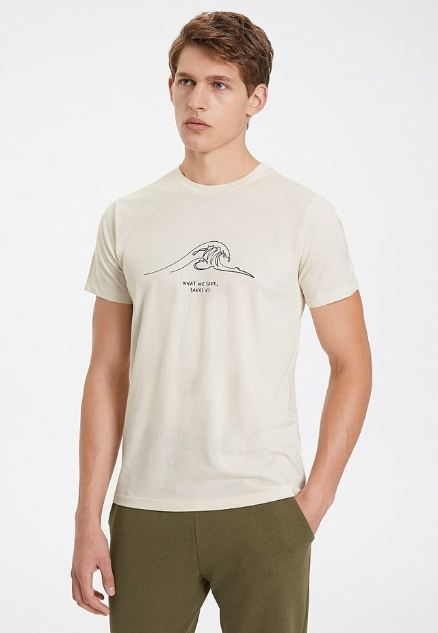 Print T-shirt - raw cotton