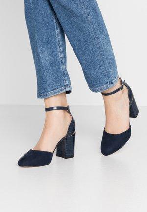 DEBS ROUND TOE TWO PART COURT - Zapatos altos - navy