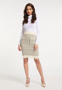 faina - Pencil skirt - wollweiss - 1