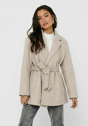 ONLTRILLION BELT COATIGAN - Classic coat - humus