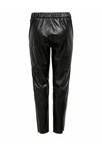 ONLY - Leather trousers - black - 4