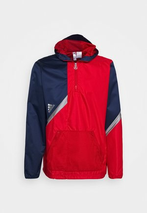 Training jacket - navy blue/scarlet