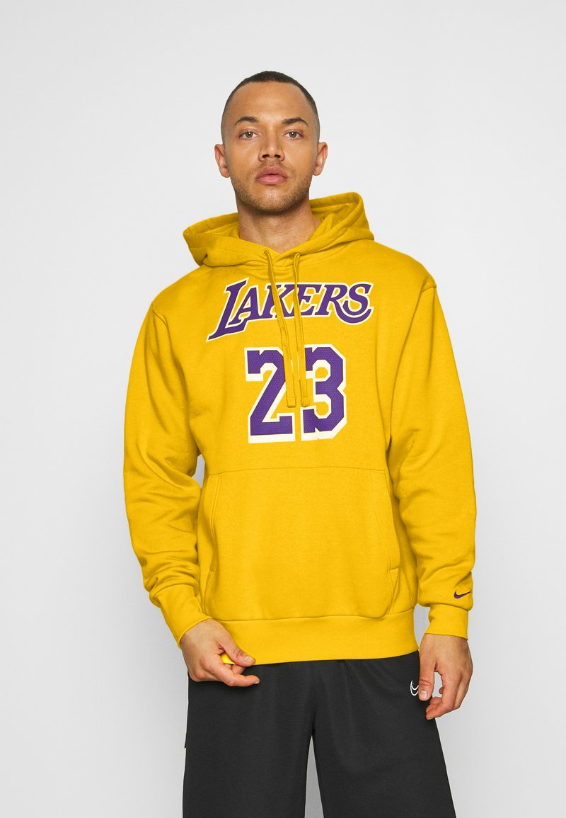 Nike Performance - NBA LOS ANGELES LAKERS LEBRON JAMES CITY EDITION ESSENTIAL - Club wear - amarillo/field purple