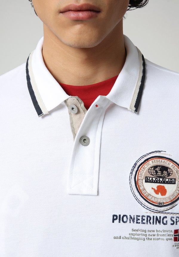 Napapijri GANDY - Koszulka polo - bright white/biały Odzież Męska GSHT