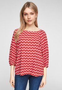 s.Oliver - Blouse - red zic zac stripes - 0