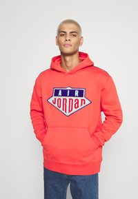 Jordan - HOODIE - Sweatshirt - track red/deep royal blue - 0