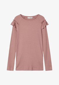 Name it - Langærmede T-shirts - woodrose - 0