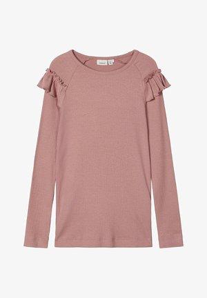 Langærmede T-shirts - woodrose