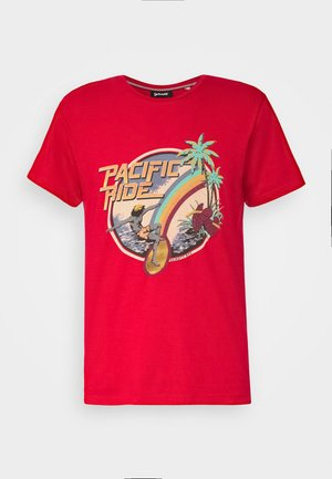 Print T-shirt - spicy red