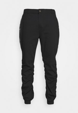 GATHERS PANTS - Cargobukse - black