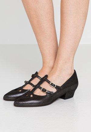 R-RUTA - Classic heels - metallic black
