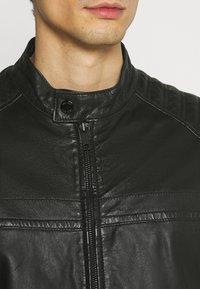 Strellson - DRIVER - Leather jacket - black - 4