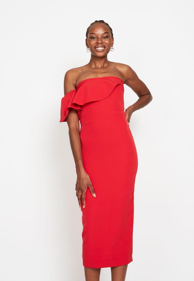 True Violet - FRILL - Shift dress - red