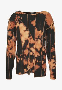 BLEACHED CUT AND SEW EXPOSED SEAM - Maglietta a manica lunga - black