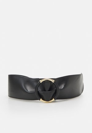 PCOLLA WAIST BELT - Waist belt - black/gold-coloured