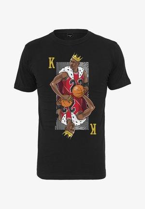 KING  - T-Shirt print - black