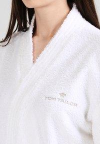 TOM TAILOR - BASIC KIMONO - Dressing gown - white - 3
