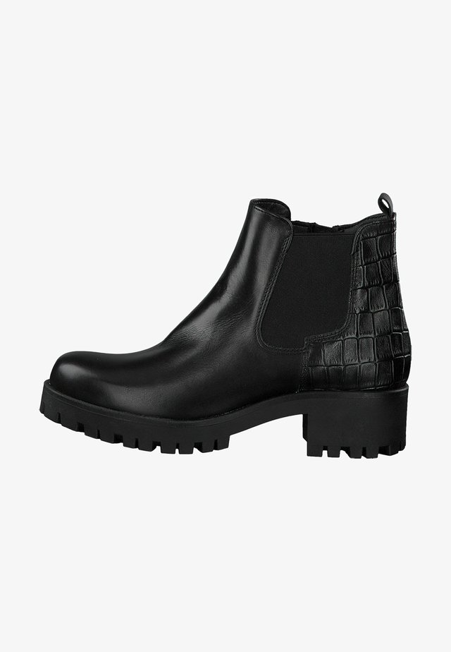 Ankle boot - black/struct.